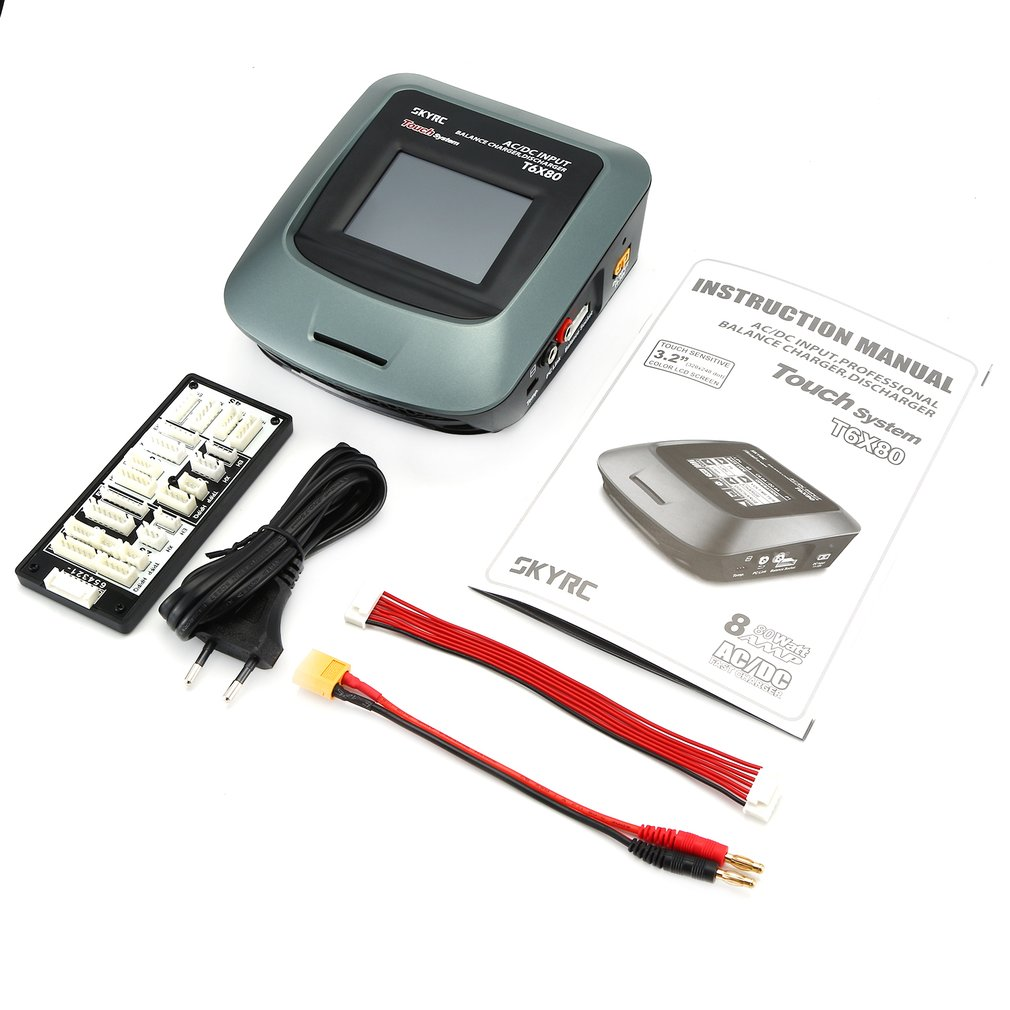 SkyRC T6X80 SK-100160-01 AC/DC Professional 3.2in Touch LCD Screen RC LiPo/LiFe/Lilon Battery Balance Charger Discharger