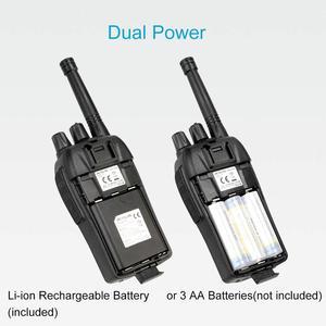 Image 5 - RETEVIS RT46 PMR ווקי טוקי רדיו FRS VOX שימושי דו דרך רדיו תחנת טעינת USB כוח כפול (Rechargable סוללה או AA)