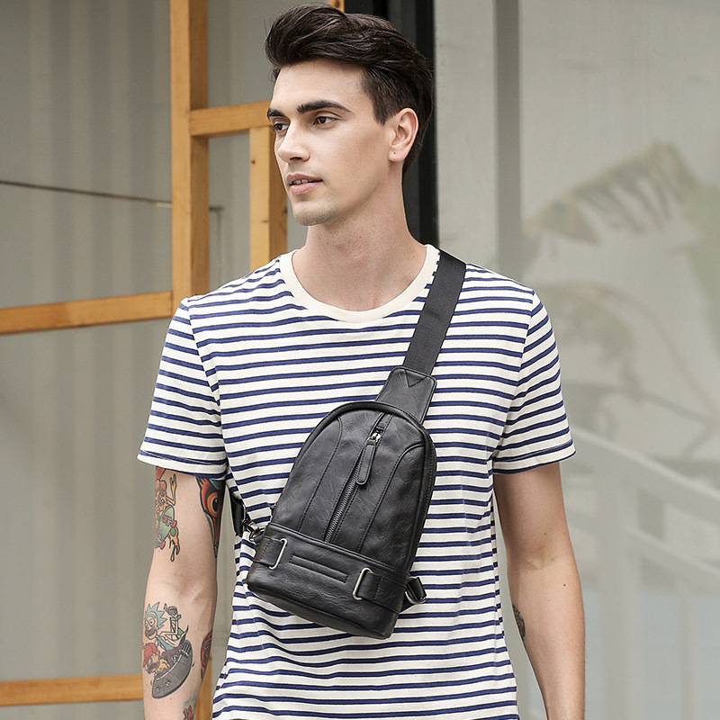 New Style Men Chest Pack Shoulder Bag Wear-Resistant Shoulder Bag Casual Men's Bag Wallet