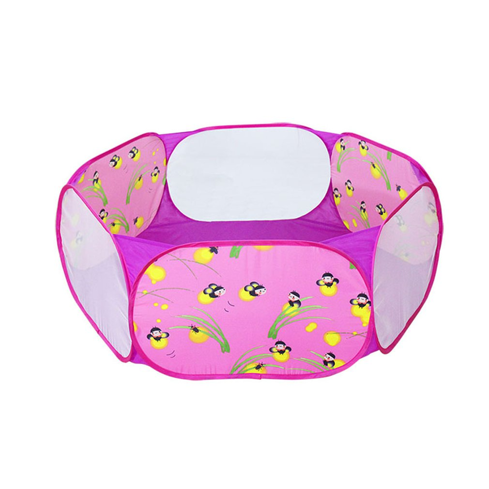 Foldable Baby Playpen Hexagon Glowworm Balls Pool Pit Indoor Outdoor Children Baby Toy Game Play House Kids Gift Play Tent