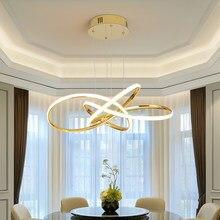 Chrome/Gold Finished Nordic Modern LED Pendant Lights For Kitchen Dining room lustre pendente Hanging Lamp maison halat avize