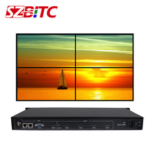 SZBITC 4 قنوات التلفزيون وحدة تحكم الجدار 2x2 HDMI VGA USB الصوت والفيديو المعالج التلفزيون الربط صندوق مع RS232 التحكم عن بعد