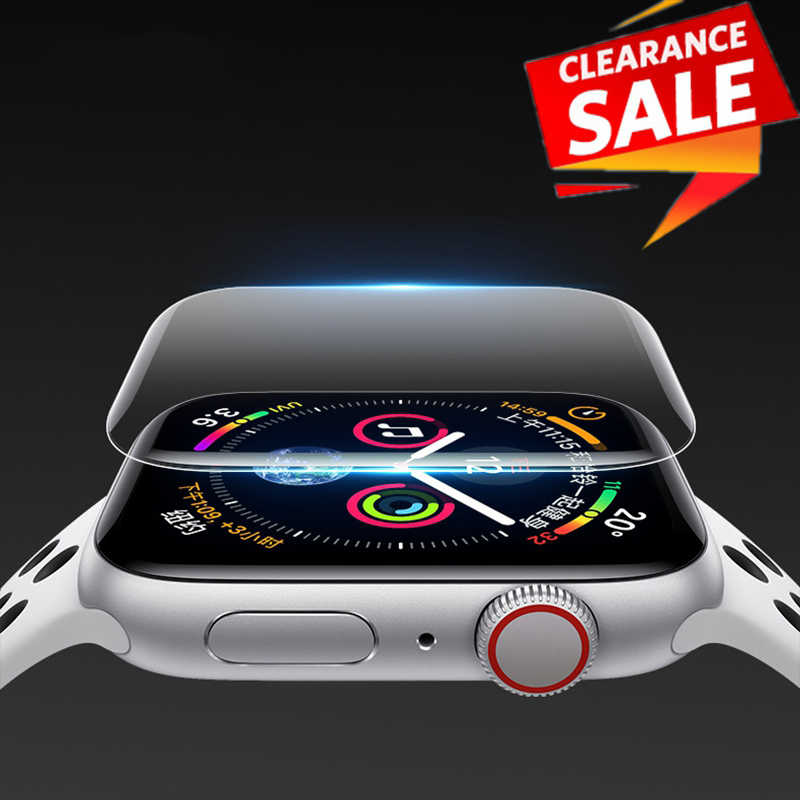 2 Pcs untuk Apple Watch Screen Protector IWatch Seri 5 4 3 2 1 Hydrogel Penuh Film Pelindung untuk Apple watch 38 Mm 40 Mm 42 Mm 44 Mm
