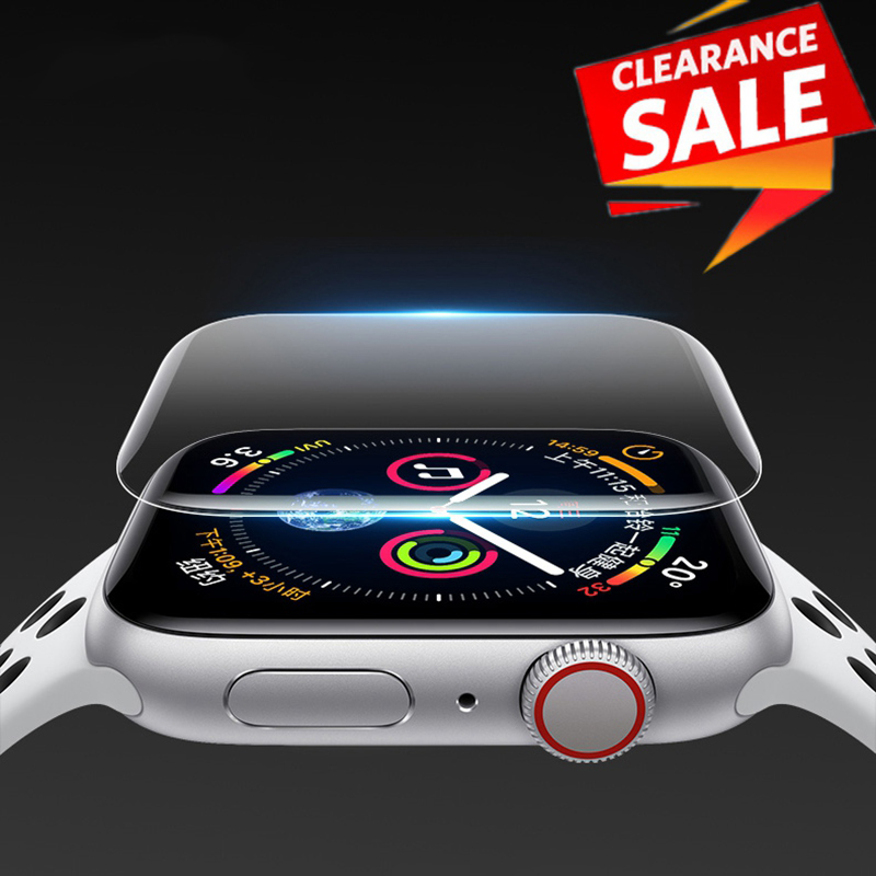 2pcs For Apple Watch Screen Protector IWatch Series 5 4 3 2 1 Hydrogel Full Protective Film For Apple Watch 38mm 40mm 42mm 44mm