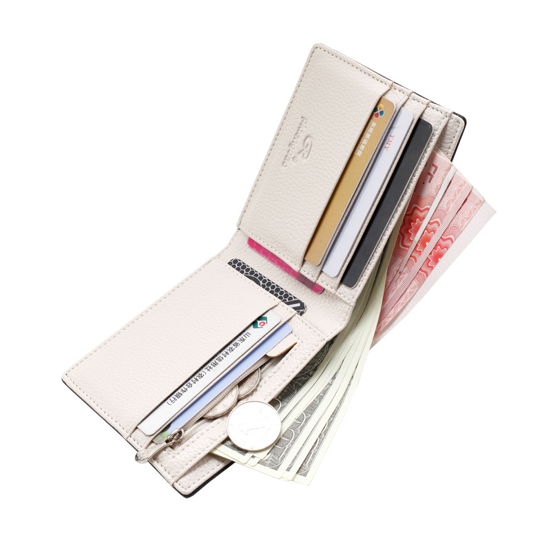 Men Wallets Fashion Solid Color Cross Pattern Open Multi Card Position Wallet Men Leather Purse Men Carteira Billetera Hombre 1