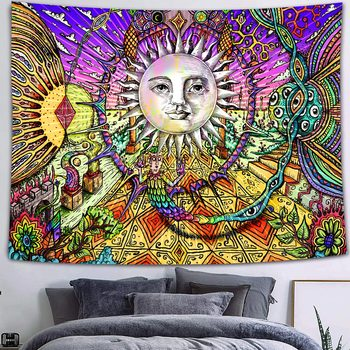Simsant Mushroom Forest Castle Tapestry Fairytale Trippy Colorful Butterfly Wall Hanging Tapestry for Home Dorm Fantasy Decor 18