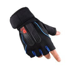 1 Pair Non-slip Cycling Gloves Fitness Gloves Men Women Sports Gym Half Finger Breathable Bike Bicycle Gloves Drop Shipping high quality sports gym gloves wrist weights fitness men gloves half finger breathable anti skid silica women gloves