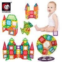 22-130 шт прозрачные магнитные плитки строительные Мини магнитные блоки Твердые 3D магнитные блоки строительные игрушки для детей девочек