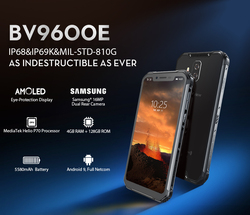 Blackview BV9600E 4GB 128GB IP68 wodoodporny telefon komórkowy 6.21 ''wyświetlacz AMOLED Helio P70 Octa Core Android 9.0 NFC Smartphone
