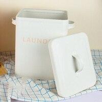 Nowa kuchnia organizator do łazienki brązowy ryż pojemnik na proszek do prania pojemnik zaplombowane pudełko z łyżeczką biały w Wiadra od Dom i ogród na
