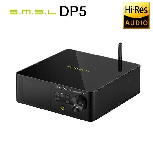 SMSL DP5 HIFIเครื่องเล่นเพลงES9038Proนึ่งเล่นMQAเต็มถอดรหัสDSD256 MQA DLNA SAMBAสมาร์ทWIFI Player