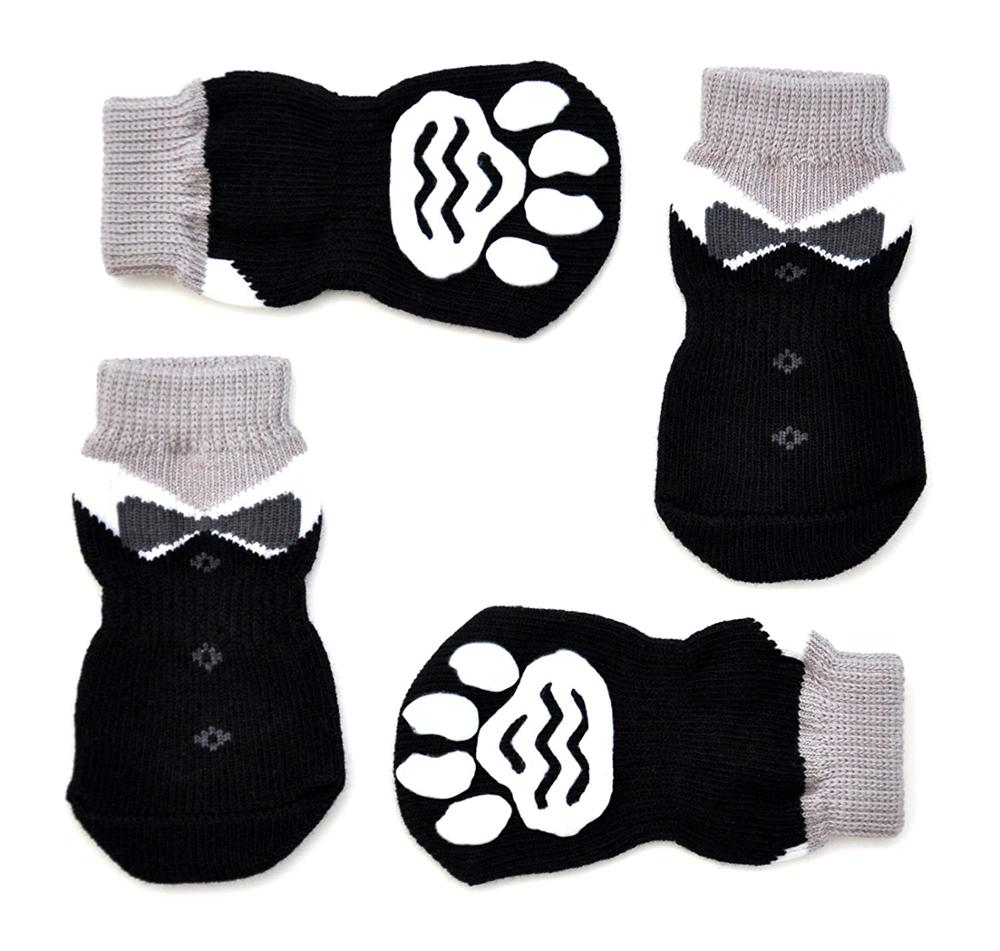 Anti-Slip Knit Dog Socks&Cat Socks With Rubber Reinforcement Anti-Slip Knit Dog Paw Protector&Cat Paw Protector For Indoor Wear