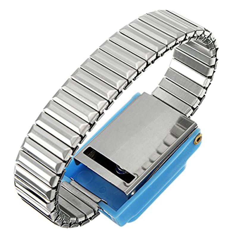 Metal Anti Static Wrist Band Strap Wireless Adjustable ESD Wristband Discharge Electronic Work Cordless Bracelet Supplies