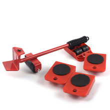 5Pcs Red Furniture Moving Transport Set Furniture Lifter Heavy Stuffs Moving Tools