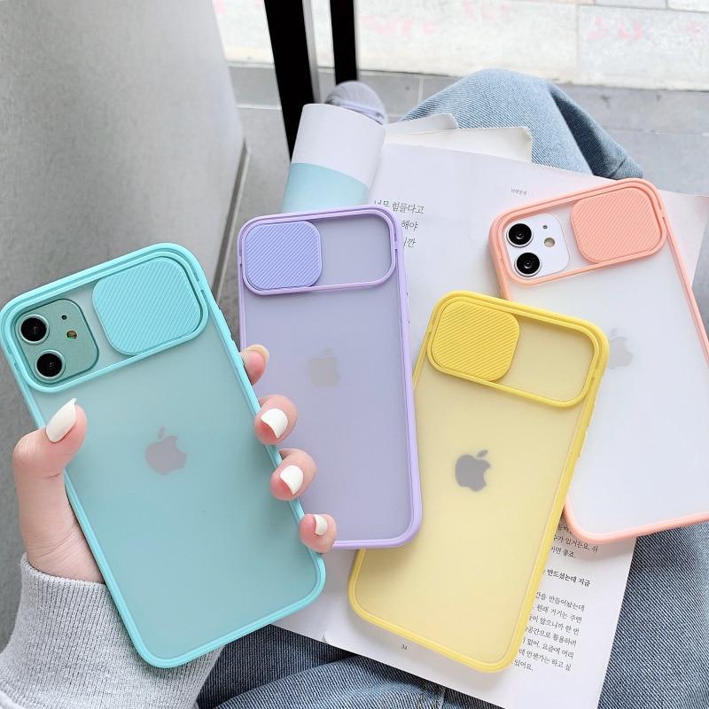 Camera Lens Bescherming Telefoon Case Op Voor Iphone 11 12 Pro Max 8 7 6 6S Plus Xr Xsmax X Xs Se 2020 12 Kleur Candy Soft Cover