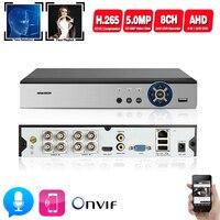 H.265 8CH* 5MP AHD DVR Surveillance Security CCTV Video Recorder DVR Hybrid DVR For 720P 5MP Analog AHD CVI TVI IP camera XMEYE