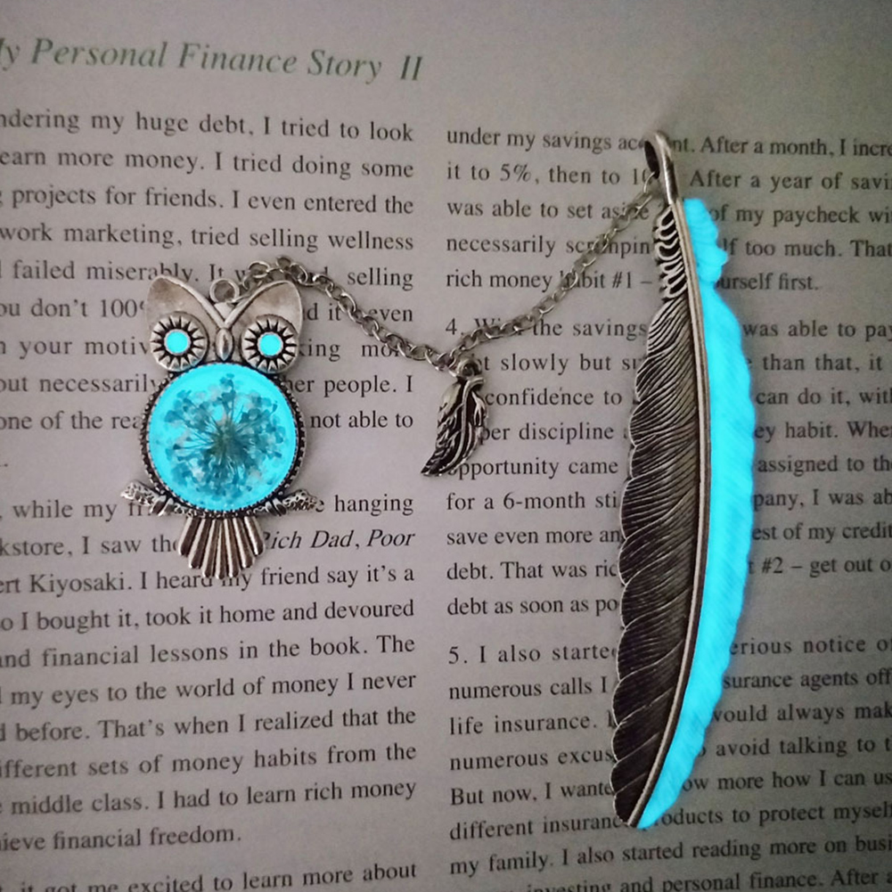 Prove Bookmark Glow in The Dark Luminous Book Marker Creative Dragonfly Bookmark Label School Office Stationery