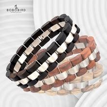 BOBO BIRD Wood Men Bracelet Fashion Watch Bands Elegant Jewelry браслет мужской Women Bracelets Dropshipping Gifts For Lovers