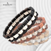 BOBO BIRD pulsera de madera para hombre y mujer, reloj elegante, joyería, regalo para amantes
