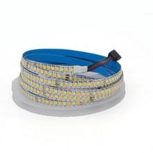 5 m dupla cor cri> 85 smd2835 cct regulável led luz de tira 24 v 12 v dc 120 leds/m 180 leds/m ww cw temperatura de cor ajustável
