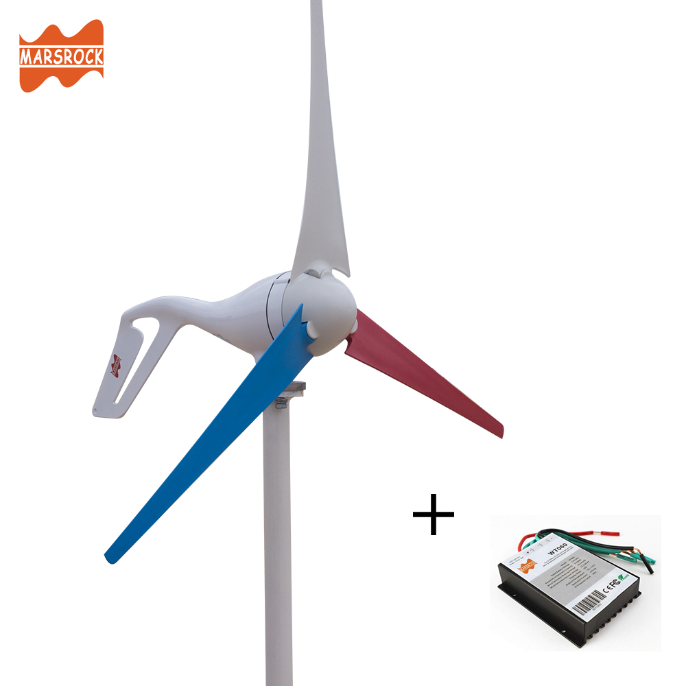 H9ae39c8967c04f1ba7587d93219d9e1bN - 2019 Wind Turbine Generator 400W Mini Windmill Wind Controller 3/5/6 blades Home Small gerador eolico Charge for Marine Boat
