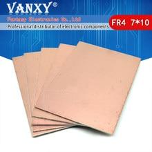 5 pièces FR4 PCB 7x10cm 7*10 simple face cuivre plaqué plaque bricolage PCB Kit stratifié Circuit imprimé