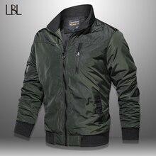 LBL Autumn Military Bomber Jacket Men Slim Fit 2020 Winter Casual Mens Jacket Solid Outwear Zipper Coat Man Tracksuit Windproof