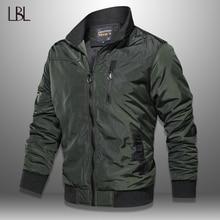 LBL automne militaire Bomber veste hommes coupe ajustée 2020 hiver décontracté hommes veste solide Outwear fermeture éclair manteau homme survêtement coupe vent