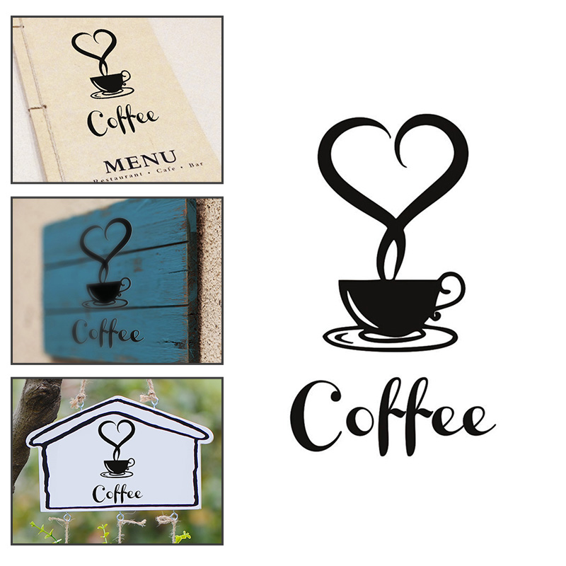 Fashion Coffee Cup Wall Art Sticker Mural Decal for Home Kitchen Living Room