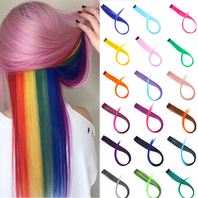 DIANQI Connect Colorful Straight Hair Wigs, Clips, Hairpins, Parties, Nightclubs, Cosplay Dresses, Decorative Hair Accessori