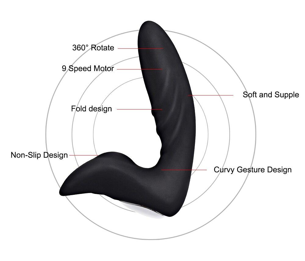 Перезаряжаемый силиконовый массажер простаты Вибраторы 12 Скоростей для мужчин и женщин Анальная пробка водонепроницаемый стимулятор простаты