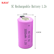 High quality Sub C SC 1.2V 3000mAh Ni-Cd Ni Cd Rechargeable Battery Batteries high quality cd the betles stereo 16cd