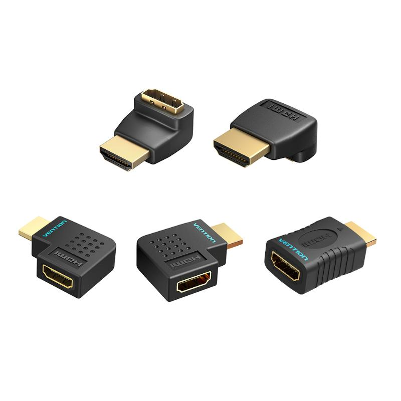 HDMI2.0 Elbow Night Angle Adapter 90 Degree Male Female Corner Notebook Connection Display Interface For Laptop TV
