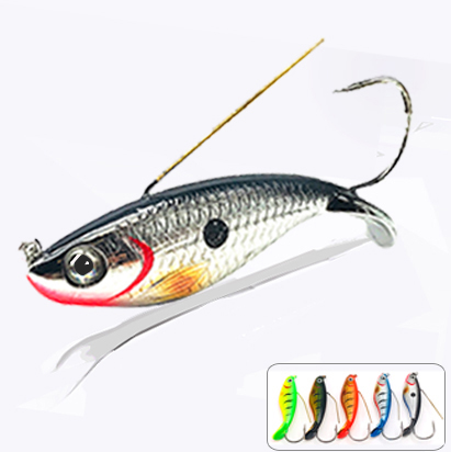 Vib Rattlin Hard Fishing Lures Tackle Surface Wobblers Carp Bass Pike Trolling Winter Artificial Fake Bait For Fishing Lure Sea in Fishing Lures from Sports Entertainment