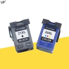 До 21 22 набор чернил для заправки картриджа Замена для hp21 22 xl для принтеров серий Deskjet F2180 F2200 F2280 F4180 F300 F380 380 D2300
