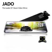 JADO D230 Pro สตรีมมิ่งกระจกมองหลัง Dvr Dash กล้อง 10 M กล้องด้านหลัง 10 หน้าจอสัมผัส IPS Full HD 1080 P รถ Dvr Dash Cam