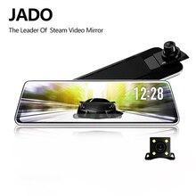 Jado d230 프로 스트리밍 백미러 dvr 대시 카메라 10 m 후면 카메라 10 ips 터치 스크린 풀 hd 1080 p 자동차 dvr 대시 캠