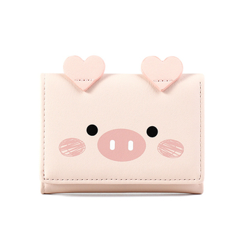 Women Cute Pig Wallet Small Zipper Girl Wallet Brand Designed Pu Leather Women Coin Purse Female Card Holder Wallet Billetera genuine leather women wallet fashion cute women s wallet small zipper coin wallet female short leather women purse card wallet