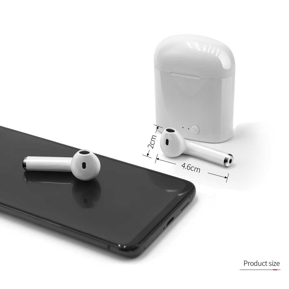 I7s TWS Bluetooth イヤホンステレオ Bluetooth ヘッドセット充電ポッドワイヤレスヘッドセットとすべてのスマートフォン用
