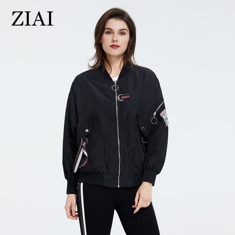 Womens Spring Short Dark Black Cool Water Resistant Windbreaker Jackets With Long Sleeve Ladies For Casual