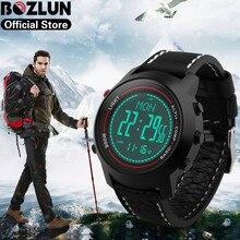 Bozlun Top Outdoor Smart Watch Compass Pedometer Altimeter Barometer Mountaineer Sports Wristwatch Waterproof Men Watches MG03 цена