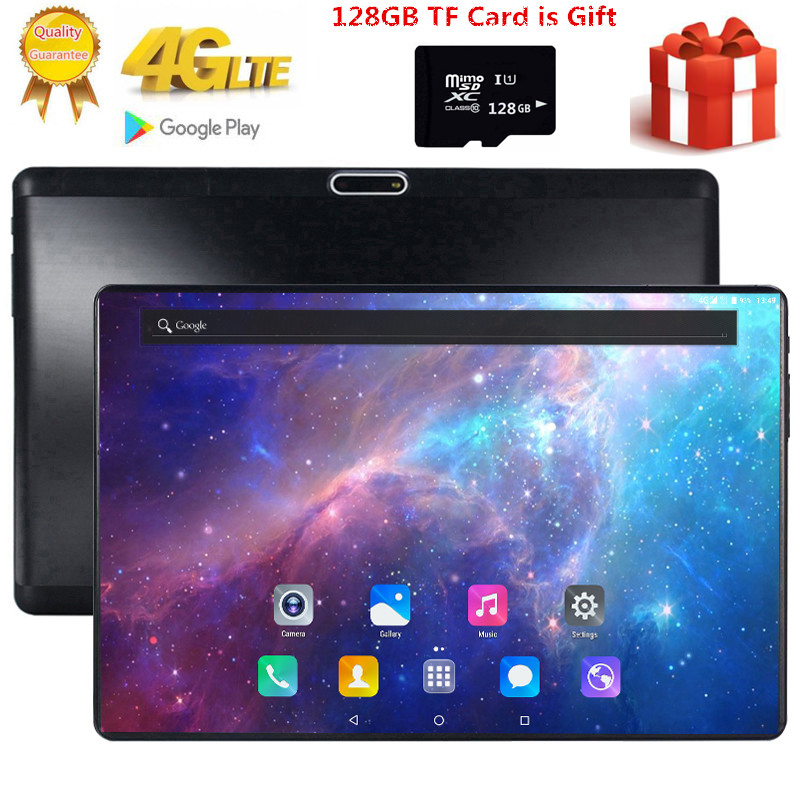 Free Gift 128GB TF Card 1920X1200 2.5D Tempered Glass Screen 10 inch Octa Core 3G 4G LTE Tablet 3GB RAM Android 7.0 tablets Pc