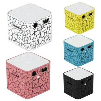 Bluetooth Speaker Portable Speaker MP3 player LED Nightlight Colorful Light Water Cube Bluetooth Speaker Mini Speaker pyramid design bluetooth speaker