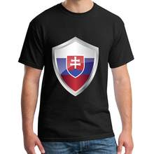 printed Emblem Slovakia tee shirt for men and women cotton Humor Unisex homme tee t shirts Clothes top tee(China)