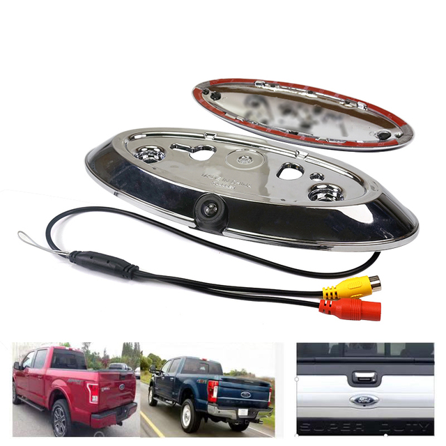 CCD Car Rear view Camera for Ford F150 F250 F350 F450 F550 F650 F750 2008 2017 SUPER DUTY rear logo backup Camera Dynamic track