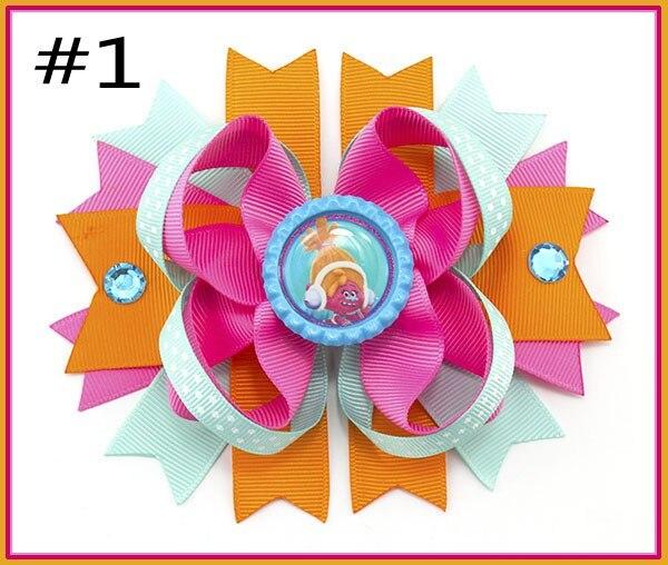 Darmowa wysyłka grupa 50 sztuk 5.5 ''Princesses inspirowane ułożone Boutique kokarda do włosów, włosy księżniczki bow Cartoon łuki dzieci klips do włosów w Akcesoria do włosów od Matka i dzieci na AliExpress - 11.11_Double 11Singles' Day 1