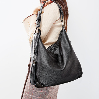 Genuine leather Women's bag new fashion large capacity cowhide casual handbag ladies shoulder bag GN-SB-stssdl