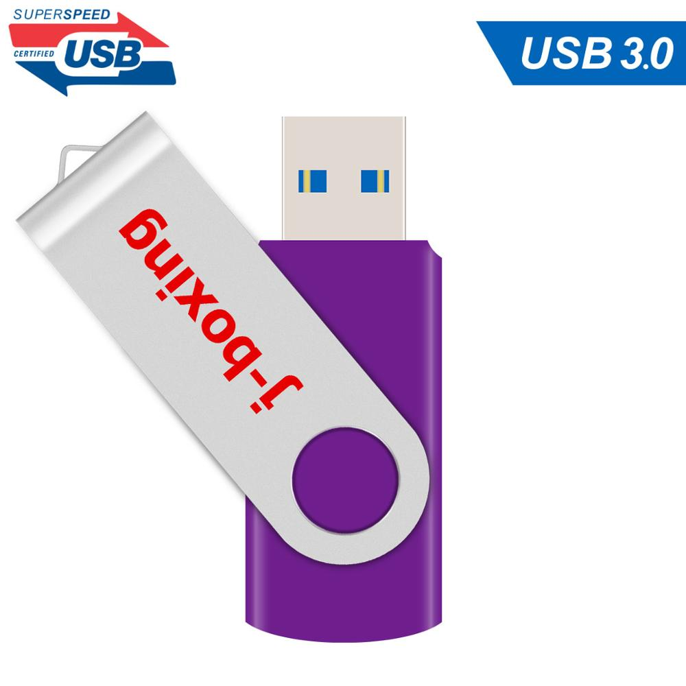 J-boxen 64GB USB <font><b>3.0</b></font>-Stick Metall Klapp Genug Memory Stick-Stick Flash-Stick <font><b>32</b></font> <font><b>GB</b></font> 16 <font><b>GB</b></font> für PC Tablet Lila image