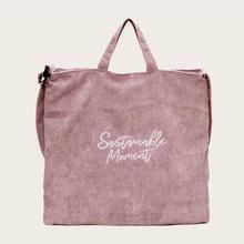 Bolso de hombro de pana de mujeres Venta caliente cómodo exquisito Durable Vintage de gran capacidad bolso de mano bolsos