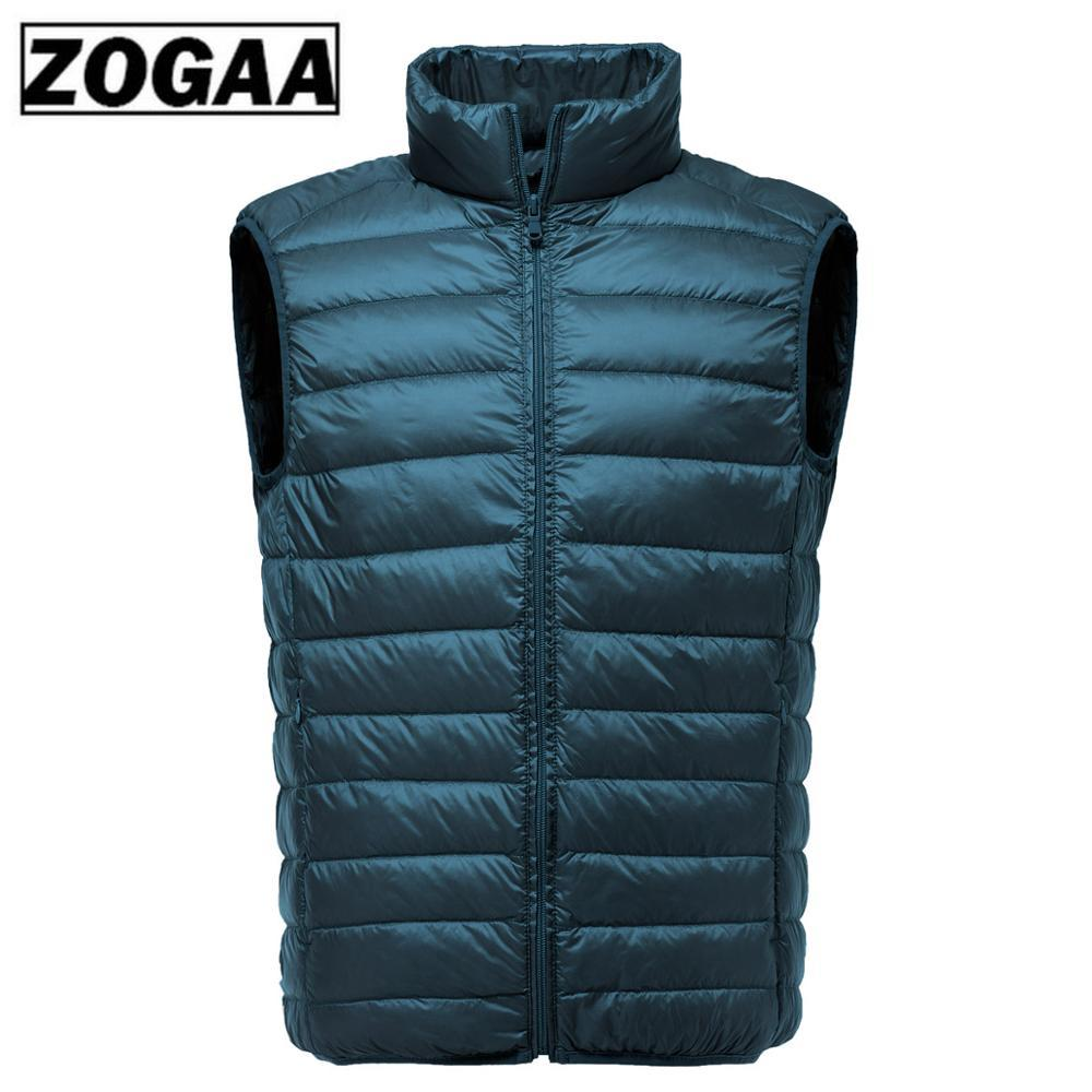 2019 New Men Sleeveless Jacket Winter Ultralight White Duck Down Vest Male Slim Vest Men's Clothes Windproof Warm Waistcoat